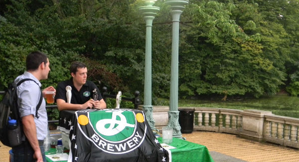 Brooklyn Brewery in the park.
