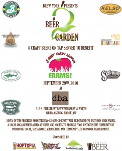 Presenting Awesomeness: BrewYork's Beer2Garden at d.b.a Brooklyn